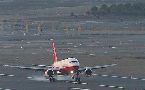3. Havalimanına ilk inişi Erdoğan yaptı.