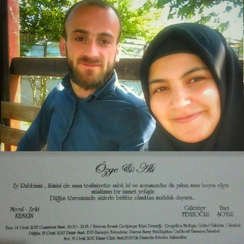 Ali Soylu ve Özge Keskin Dünya evine giriyor.
