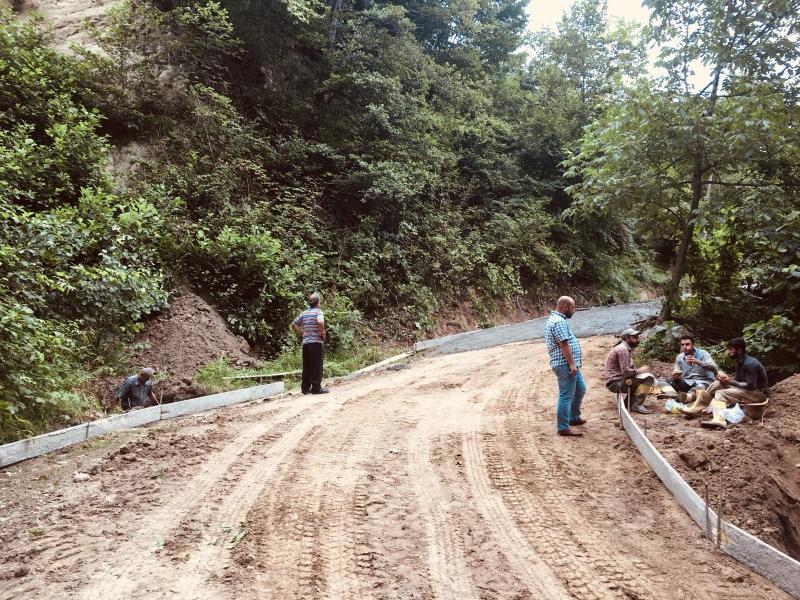 Yokuşbaşı Mah. Meksize bölgesinde yapılan Betonlama çalışmaşı.