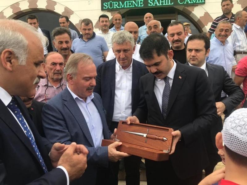 Çevre ve Şehircilik Bakanımız Sn. Murat Kurum, Sürmene'de.