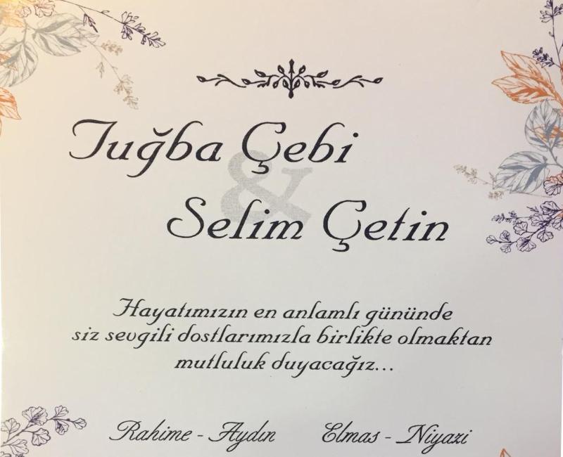Tuğba ve Selim Kardeşimizin Mutlu Günü.