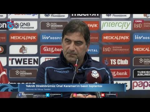 Trabzonspor'da Ünal Karaman, bugün canlı yayında açıklama yapıyor.